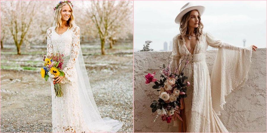 Бохо-невесты выглядят интересно