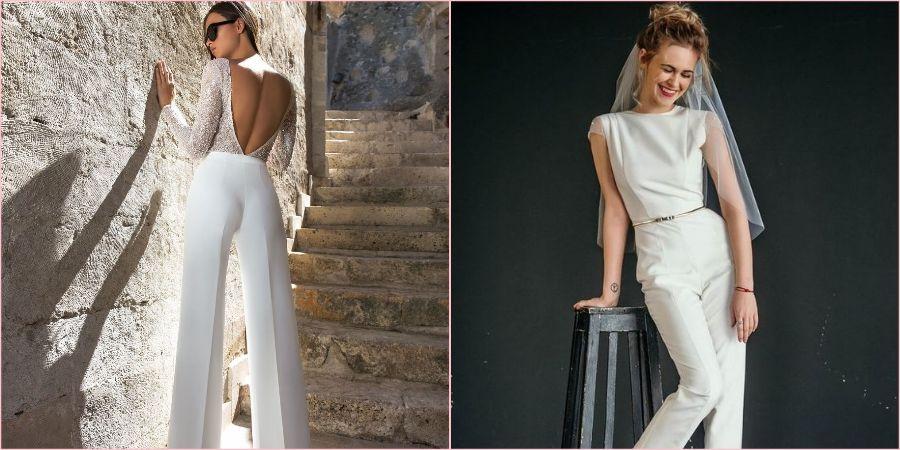 Любительницы брюк могут надеть их на свадебное торжество