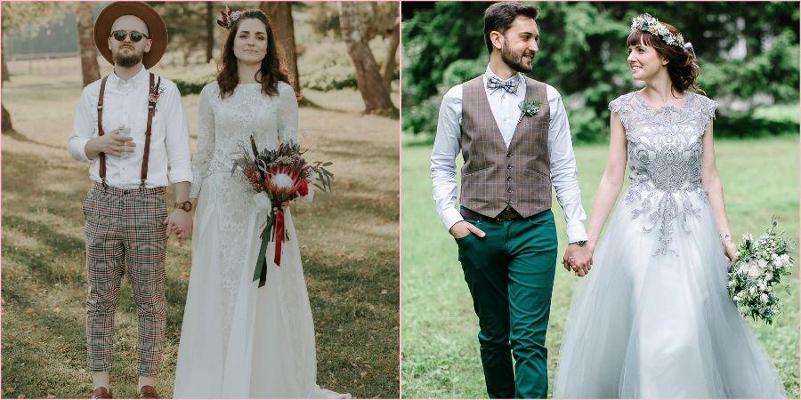 Модные луки для будущих супругов
