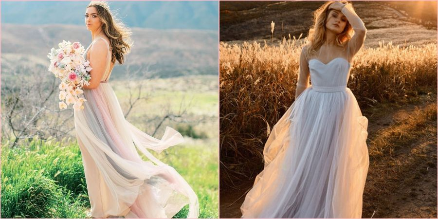 Нежные свадебные платья сейчас очень популярны