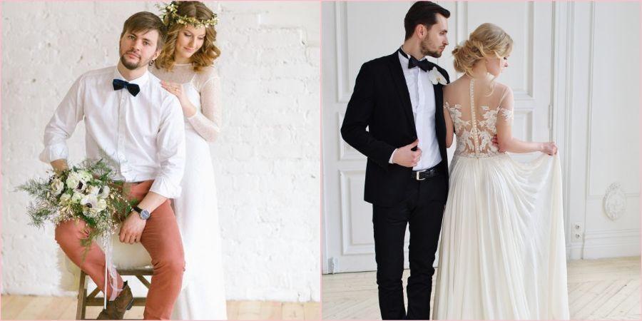 Современные жених с невестой