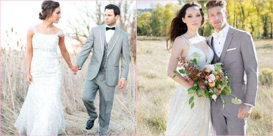 Последние годы серый цвет популярен на свадьбах