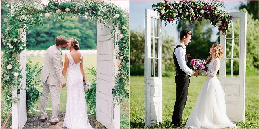 Старинные дверцы очень интересно будут смотреться на свадебной церемонии