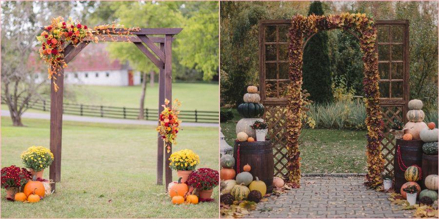 Осенью в качестве декора можно задействовать тыквы