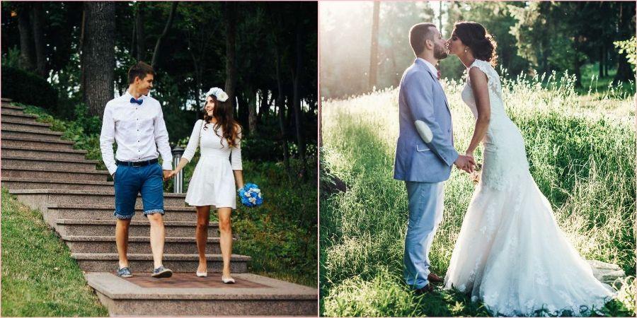 Пары тщательно наряжаются на свадьбу