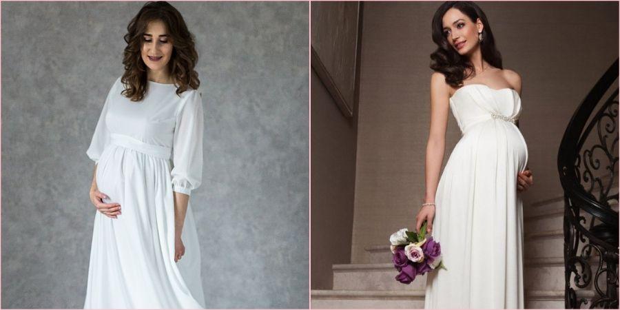 Некоторые невесты надевают обтягивающее платье даже при беременности