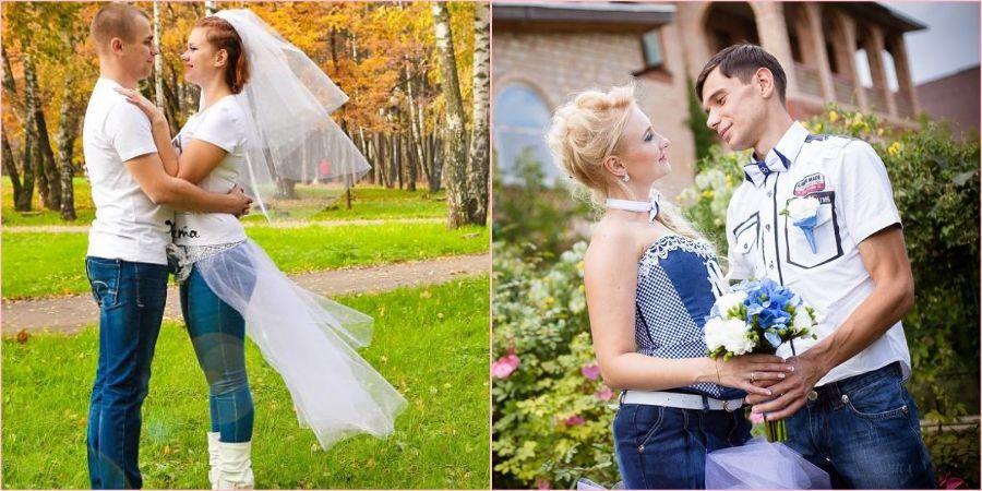 На свадебное торжество принято одинаково одеваться