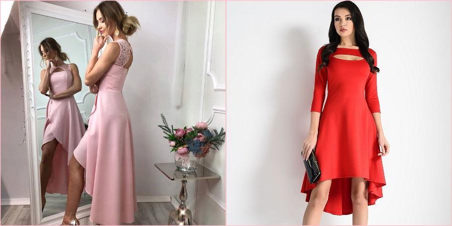 Асимметричное платье подойдет молодой приглашенной