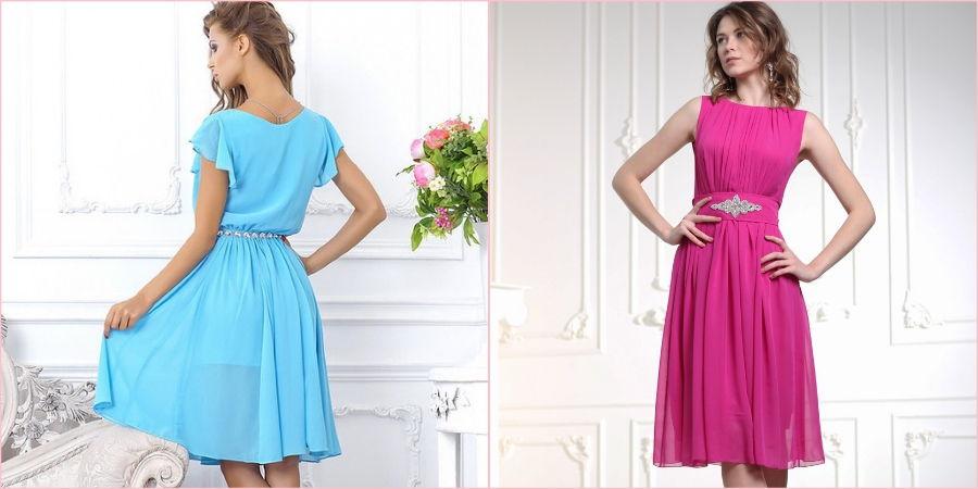 Цветные платья часто выбирают в сентябре