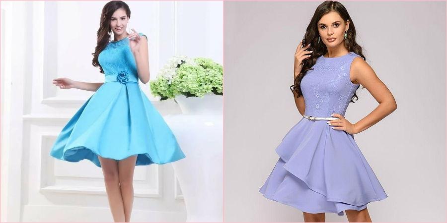 Молодые девушки часто выбирают укороченное платье без рукавов