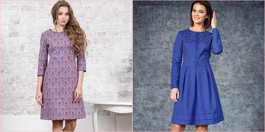 Поздней осенью выбирайте платья из плотной материи