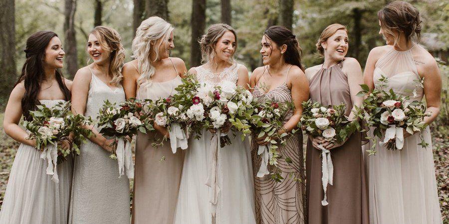Осеннее свадебное торжество с гостями