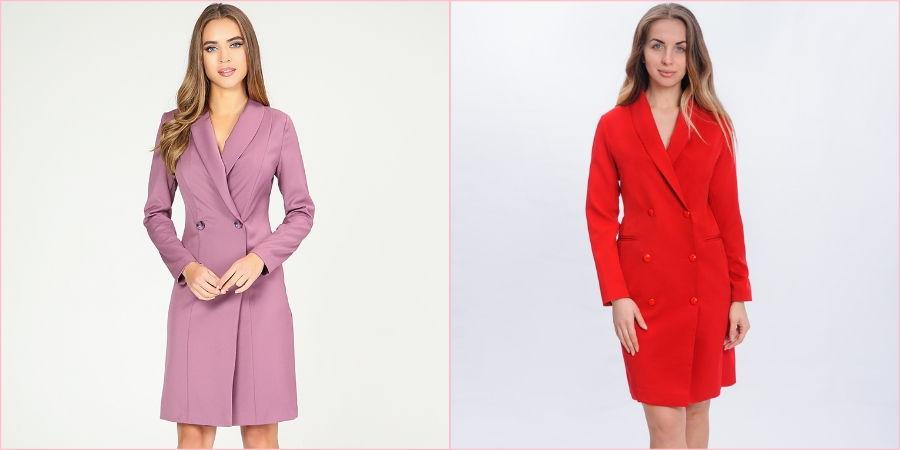 Платья-пиджаки самые популярные модели на сегодняшний день