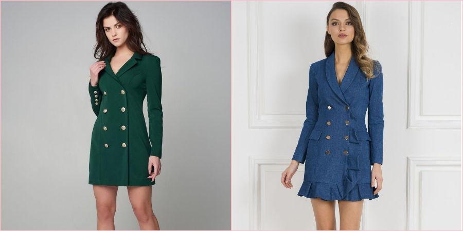 Эффектный покрой в виде пиджака подчеркнет плечи и талию