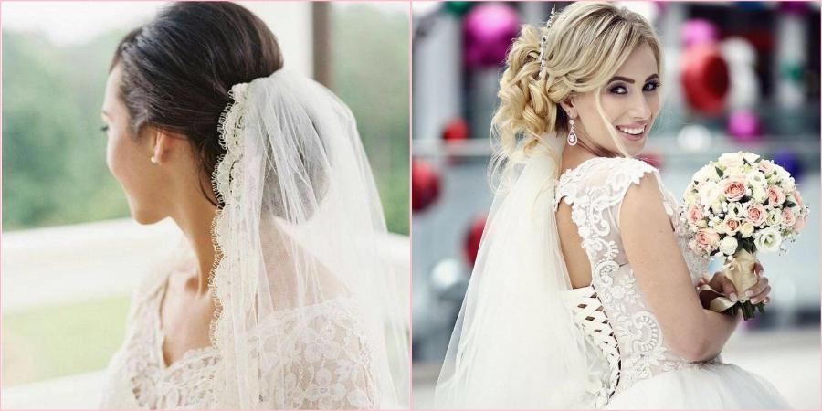 Укладку на свадьбу должна гармонировать с платьем