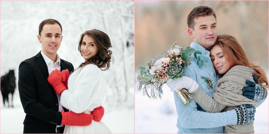 Красивые атрибуты для свадьбы в декабре