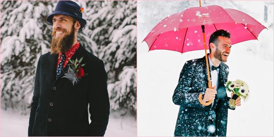 Мужчины зимой выглядят элегантно