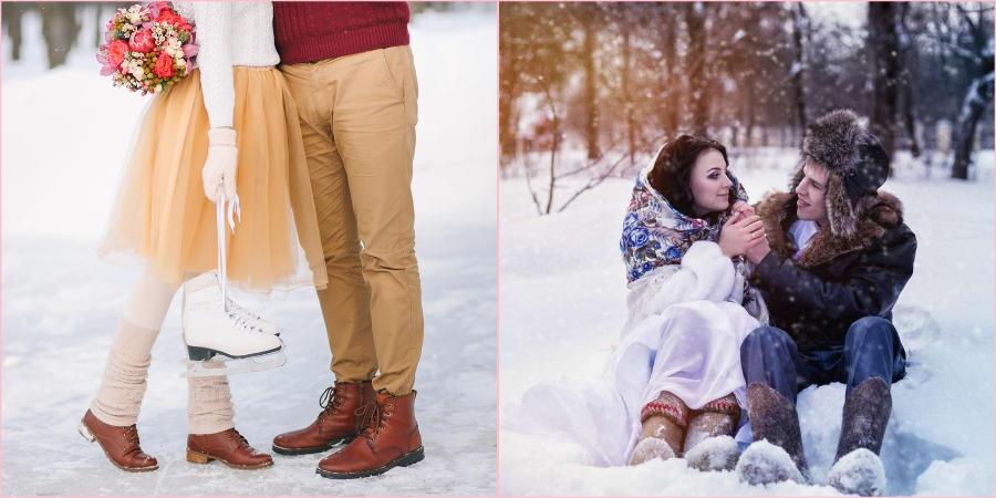 На зимнюю фотосессию выбирайте теплую пару обуви