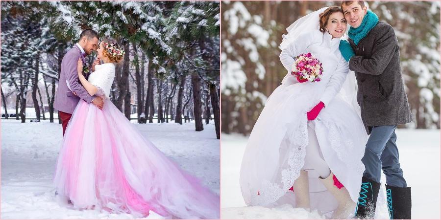 Добавьте в свадебный образ ярких красок
