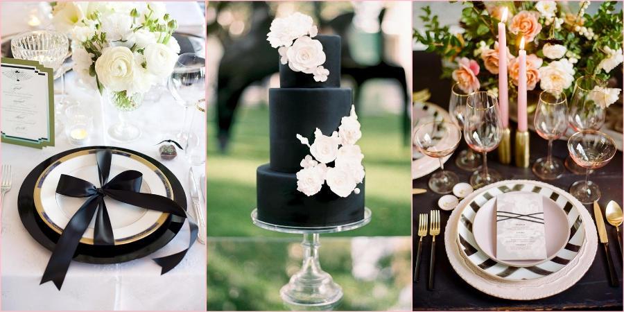 Не бойтесь декорировать свадьбу черными деталями