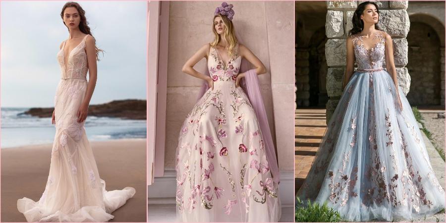 Цветной принт на платьях очень популярен в этом году