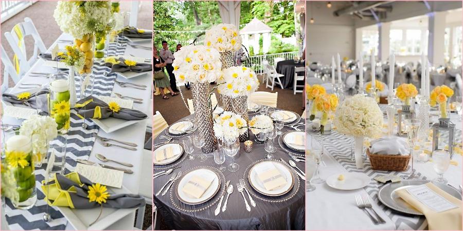 Желтый и серый главные цвета свадьбы в 2021 году