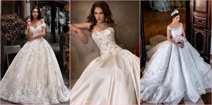 Благодаря пышной юбке такое свадебное платье остается популярным