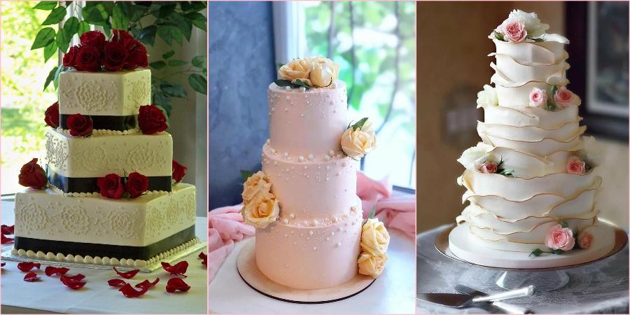 В современном мире свадебные торты похожи на настоящее произведение искусства