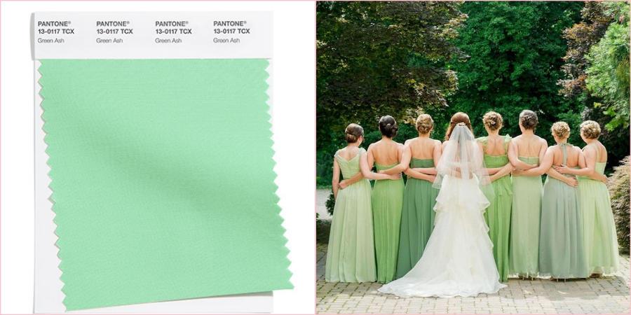 Зеленый Ясень будет отлично смотреться на свадьбе ранней весной
