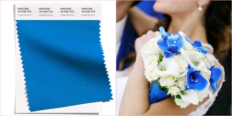Индиго овсянка прекрасно будет смотреться на свадьбе в морском стиле