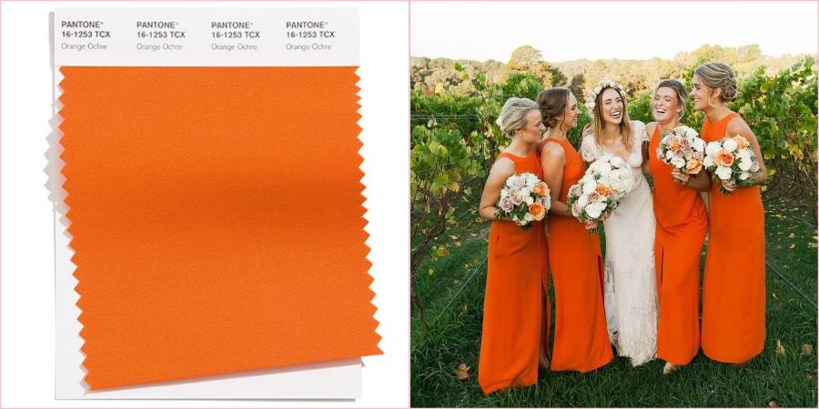 Оранжевая охра выглядит достаточно спокойной и сдержанной