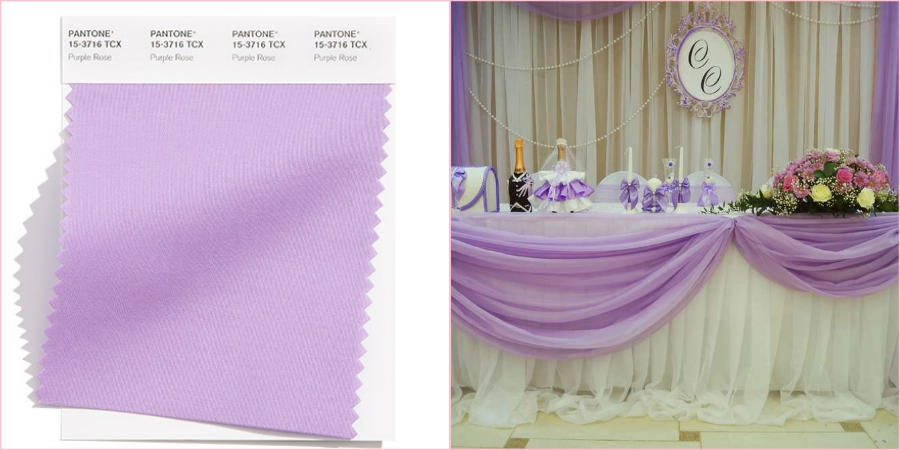 Соблазнительный пурпурно-розовый получился благодаря сочетанию розового и сиреневого