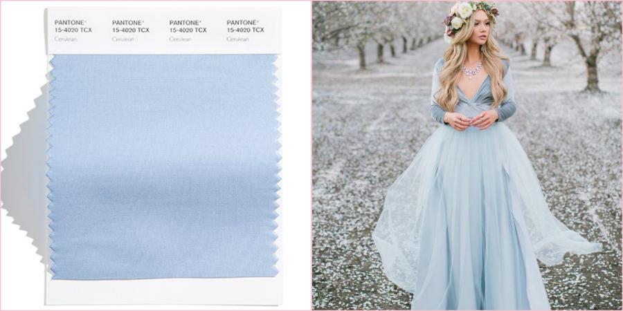 Приятный прозрачный оттенок голубого придаст Вашему свадебному дню радость и комфорт