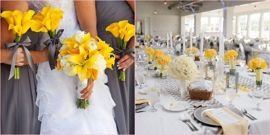 В 2021 году модно сочетать яркий желтый цвет со спокойным серым