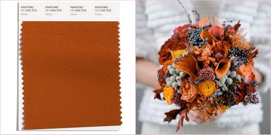 В оттенках коричневого можно оформить свадьбу в стиле Бохо