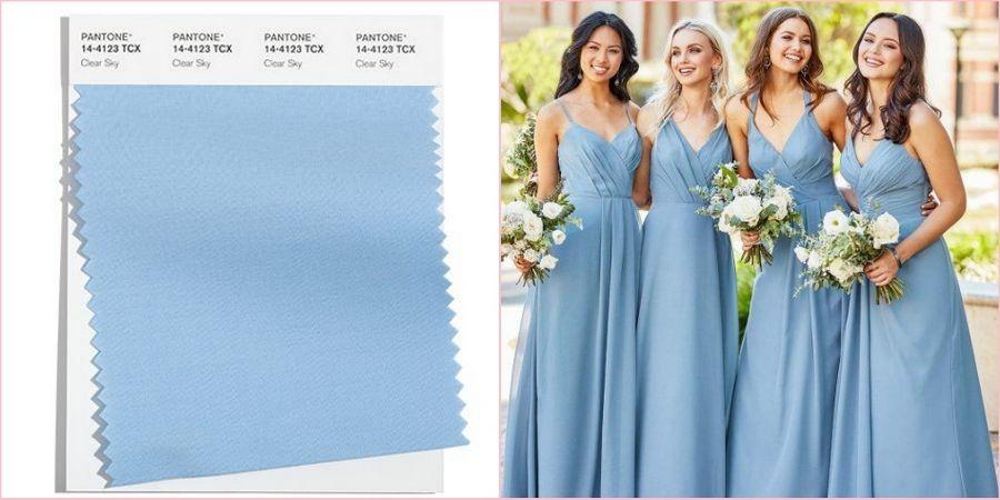 Нежно-голубой часто используют на свадьбах