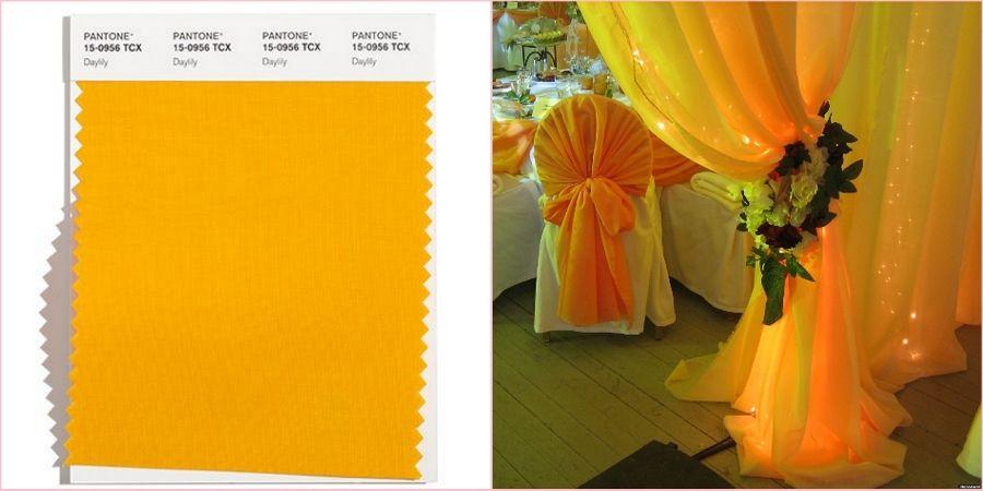 Яркий желтый с нотками оранжевого привнесет в праздник веселье