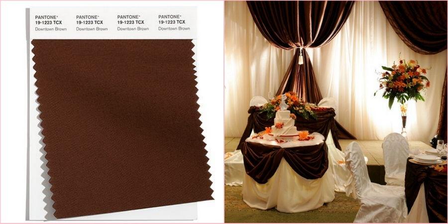 Используйте коричневый оттенок в начале осени