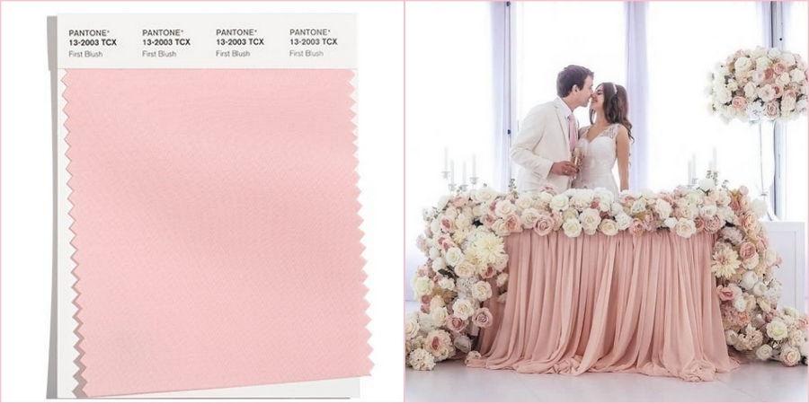 В последние годы модно оформлять свадьбу в нежно-розовом цвете