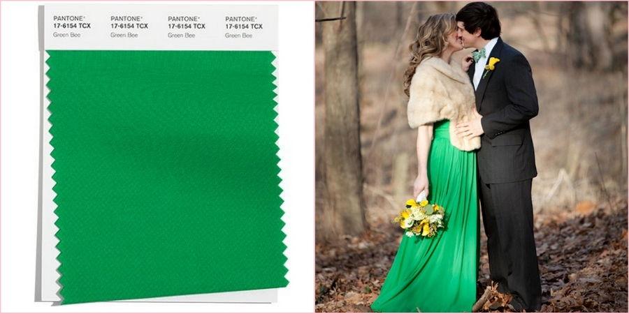 Используйте зеленый на своей осенней свадьбе
