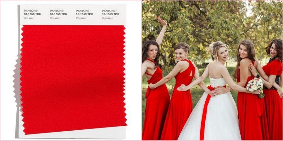 В десятку модных цветов вошел ярко-красный
