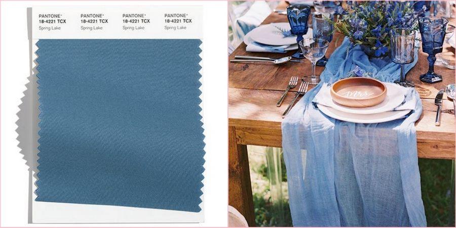 Спокойный оттенок голубого прекрасно будет смотреться в роли главного цвета на свадьбе